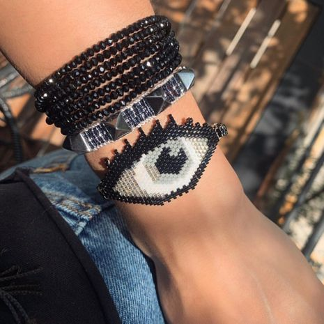Hand-woven Devil's Eye Ethnic Style bracelet  NHGW273802's discount tags