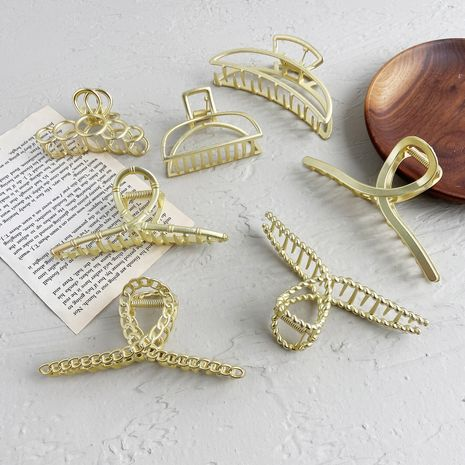 Metal alloy catch hair clip NHPJ273835's discount tags