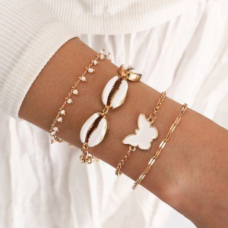 Bracelet papillon bohème blanc goutte d'huile NHPV273855's discount tags