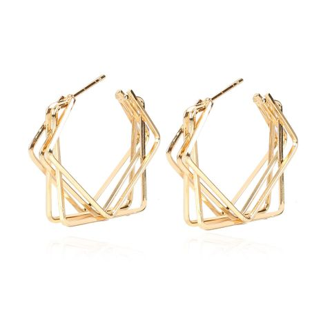 retro alloy irregular square metal earrings NHCT273873's discount tags
