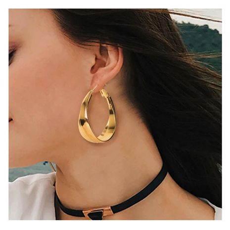 golden circle fashion simple earrings  NHCT273882's discount tags
