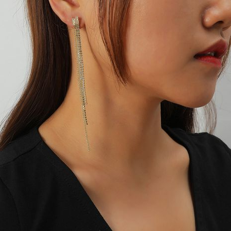 all-match long tassel earrings NHKQ273906's discount tags