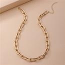 fashion alloy square geometric womens necklace  NHLU273937