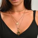 fashion  wholesale 3 sets of coin totem multilayer necklace NHLU273939