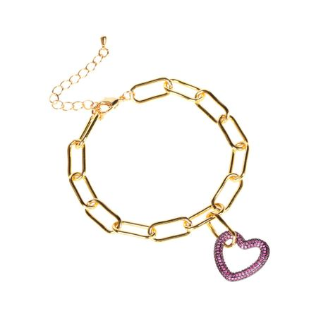 fashion  diamond heart-shaped pendant bracelet  NHPY273955's discount tags