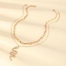 collier pendentif diamant serpent en mtal cratif NHNZ273981