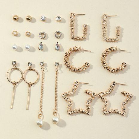Ensemble de 11 paires de boucles d'oreilles en diamant coloré NHNZ273993's discount tags
