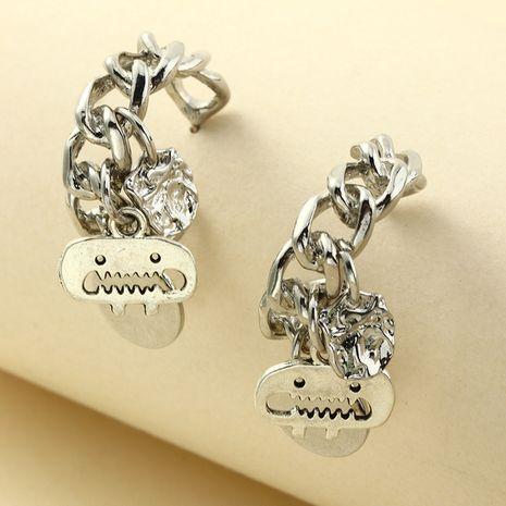 metal C-shaped irregular disc earrings NHNZ273996's discount tags