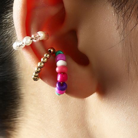 no pierced C-shaped bead ear clip  NHNZ273999's discount tags