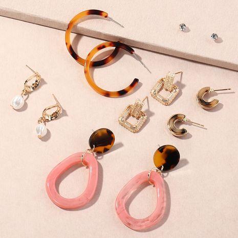 Creative Geometric Acrylic Leopard Print Earrings NHNZ274004's discount tags