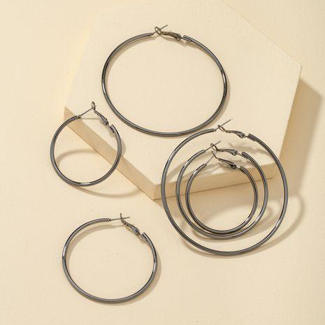 Boucles d'oreilles mode rétro noires NHQJ274018's discount tags
