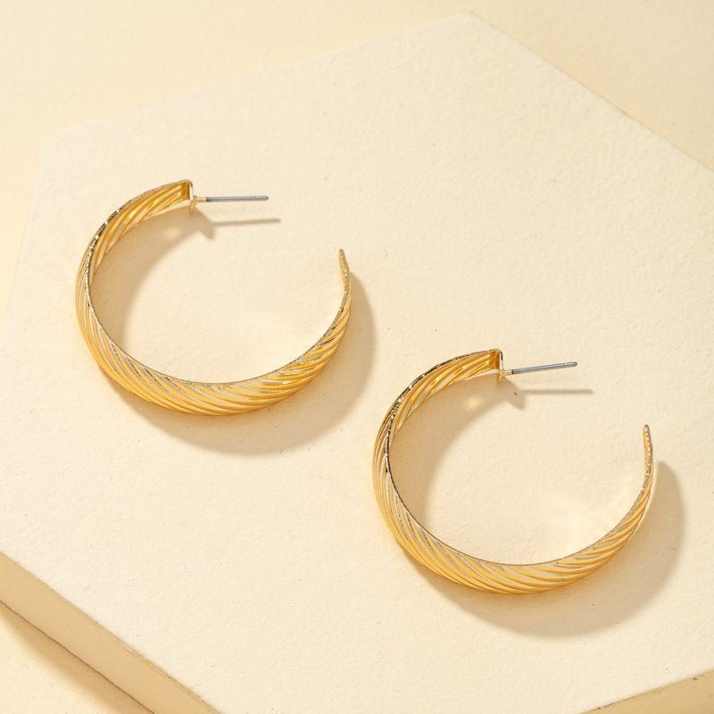 simple large circle earrings  NHQJ274019