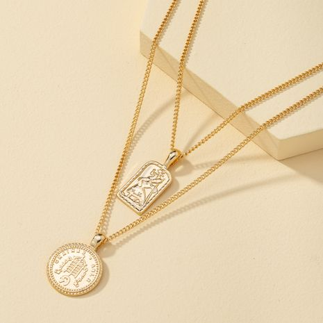 new fashion gold coin pendant multi-layer necklace  NHQJ274039's discount tags