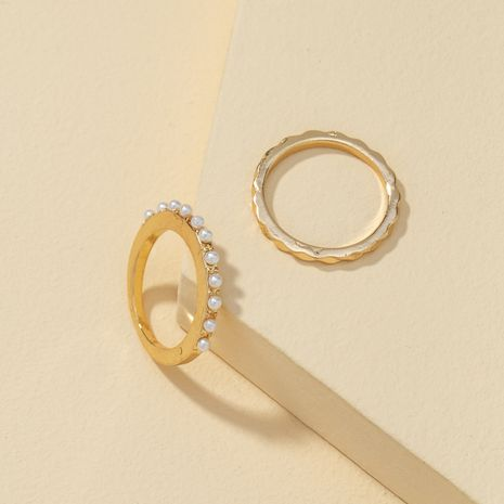 inlaid pearl metal ring set  NHQJ274041's discount tags