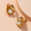 small fashion alloy inlaid pearl geometric earrings NHAI274077