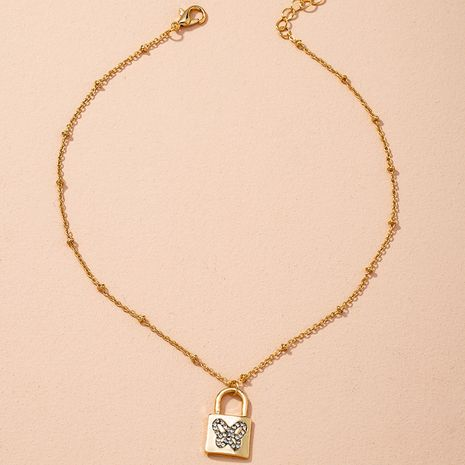 Golden Simple Fashion Snake Bone Chain Necklace  NHAI274084's discount tags