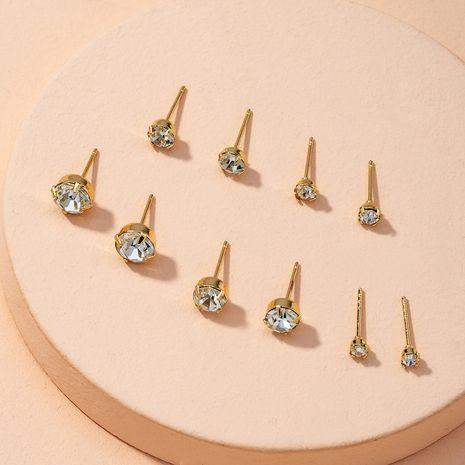 ensemble de boucles d'oreilles diamant NHAI274087's discount tags