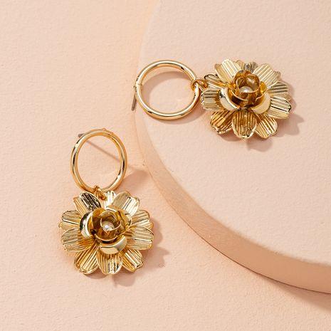 pearl flower gold flower alloy earrings NHAI274099's discount tags