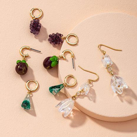 Simple cute fruit irregular earrings NHAI274103's discount tags