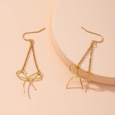 Korean gold bow earrings NHAI274104's discount tags