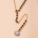 geometric  allmatch pearl shell womens snake bone chain necklace NHAI274106
