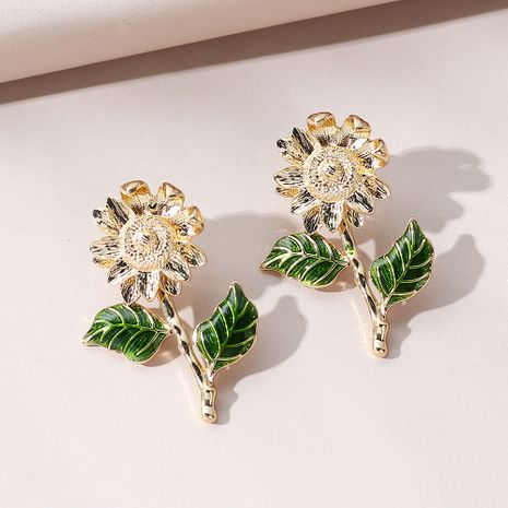 Korean  exaggerated wild fashion  sunflower earrings NHPS274143's discount tags
