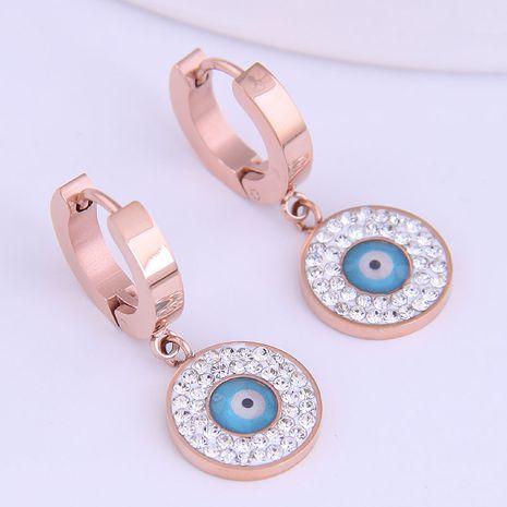 Boucles d'oreilles diamantées simples en acier au titane de la mode coréenne NHSC274490's discount tags