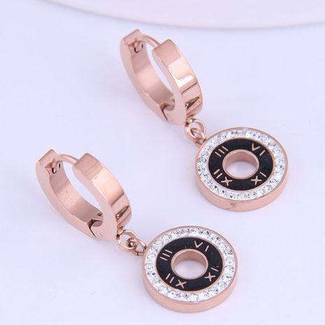 Boucles d'oreilles diamant simples en acier titane de mode coréenne NHSC274489's discount tags