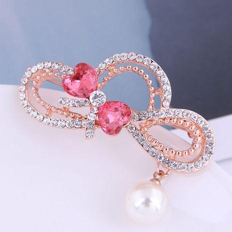 Broche à nœud en diamant clignotant à la mode coréenne NHSC274484's discount tags