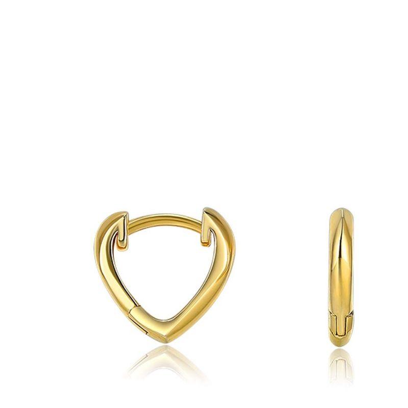 925 sterling silver fashion simple heartshaped earrings NHKL274150