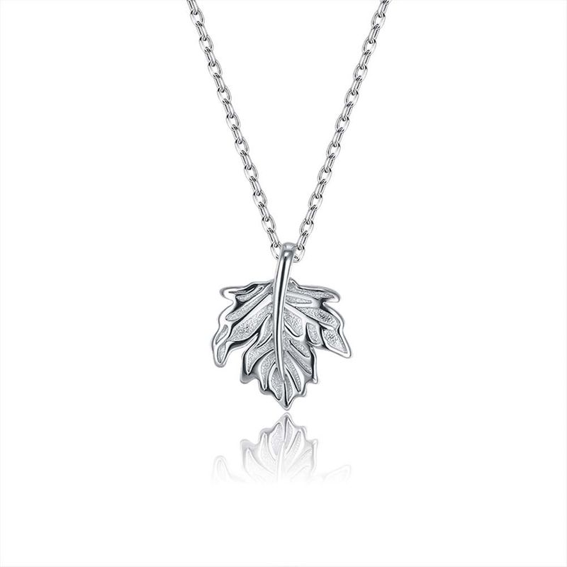 S925 Sterling Silver Fashion Maple Leaf Pearl Bracelet NHKL274165