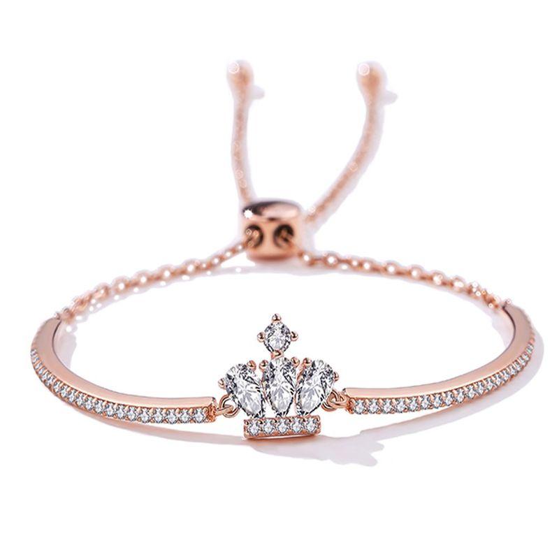 S925 Sterling Silver  Crown  Bracelet NHKL274170