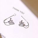 S925 silver swan motherofpearl earrings NHKL274179