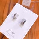 S925 silver ladder stone thread  earrings NHKL274181