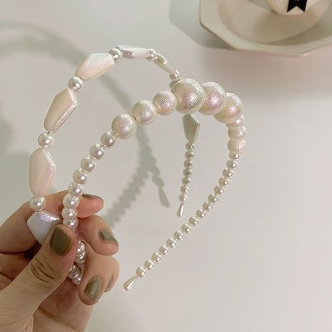 Pearl retro headband NHGE274243's discount tags