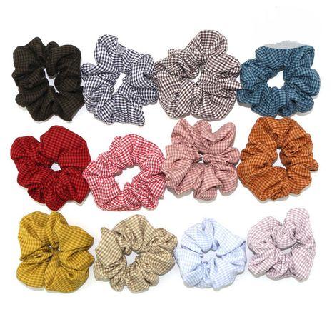 nouveaux chouchous de cheveux de fleur de tissu à carreaux coréens NHGE274257's discount tags