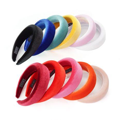 sponge silk velvet headband NHGE274260's discount tags