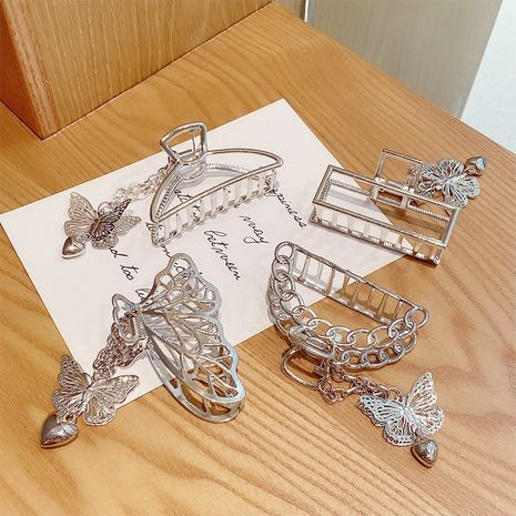 butterfly metal geometric hollow hair clip NHNA274298's discount tags