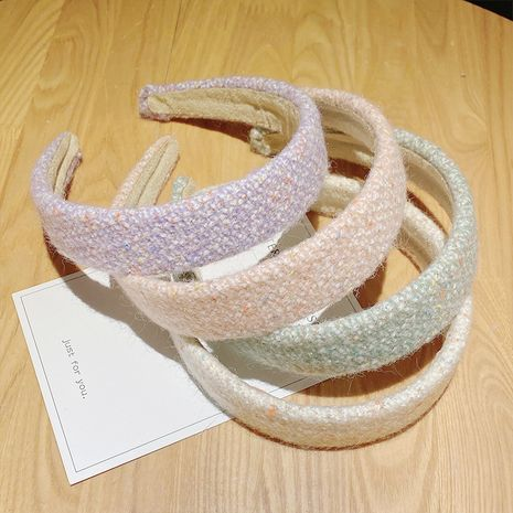 broad-brimmed anti-slip sweet woolen headband  NHNA274306's discount tags
