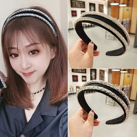 crystal glass broad-sided high-end headband NHUX274335's discount tags