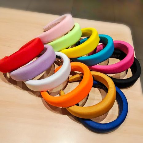 candy-colored sponge flat headband  NHUX274336's discount tags