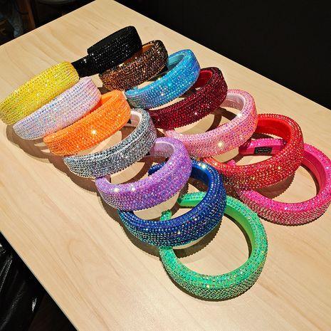 Rhinestone Broad Side Sponge Crystal Headband NHUX274344's discount tags