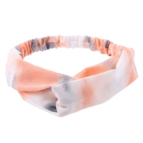 fashion simple  tie-dye printed cross headband  NHDM274360's discount tags
