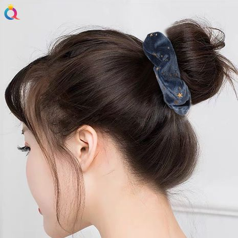 anneau de cheveux gros intestin en flanelle étoile simple bronzage velours doré NHDM274375's discount tags