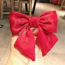 Pearl Bow Net Yarn Hair Clip NHDQ274553
