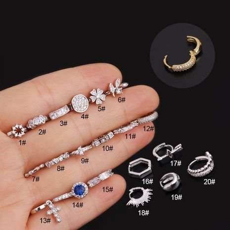 creative fashion flower piercing earrings  NHEN274557's discount tags