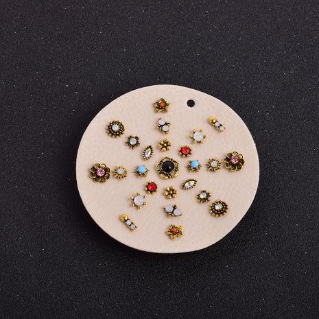 ensemble de boucles d'oreilles géométriques sauvages assorties de diamants rétro dorés NHSD274586's discount tags