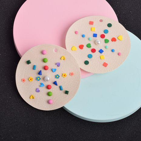 Pendientes geométricos coloridos en forma de corazón NHSD274589's discount tags