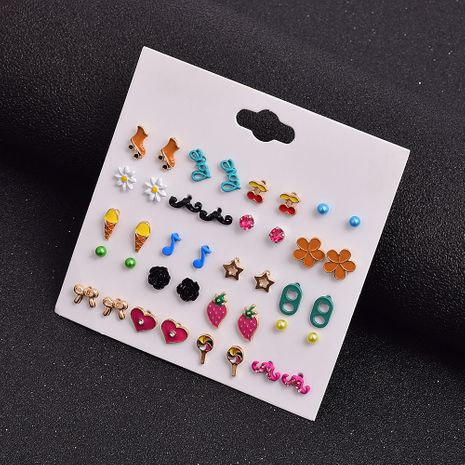 Cute simple  korean color  earrings set NHSD274592's discount tags