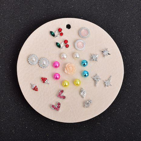 Ensemble de boucles d'oreilles en forme de coeur diamant couleur fruits NHSD274593's discount tags